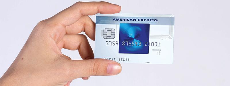 Carta credito American Express Blu