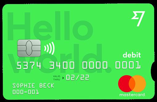 Carta di debito Transferwise Mastercard